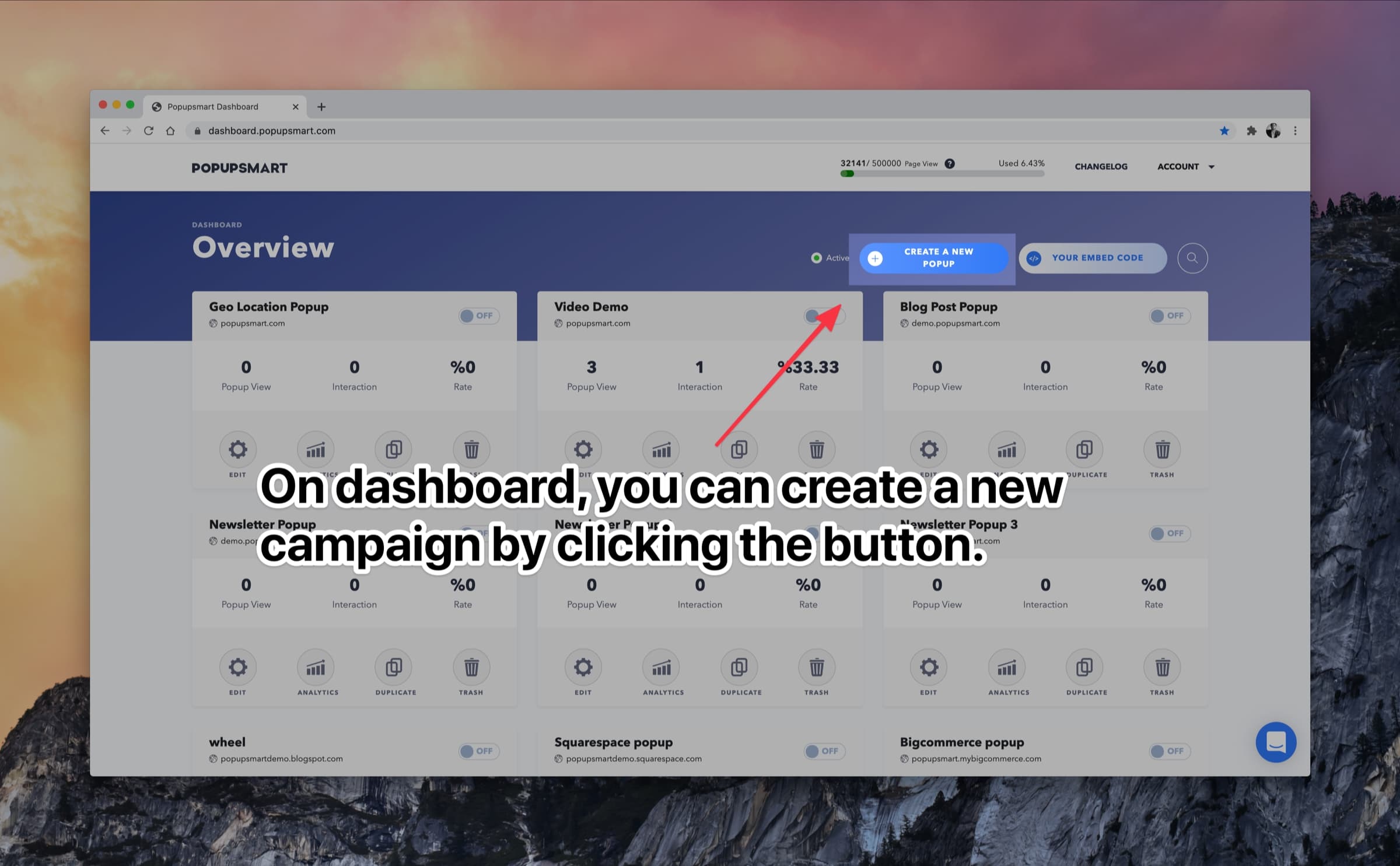 create a new popup button