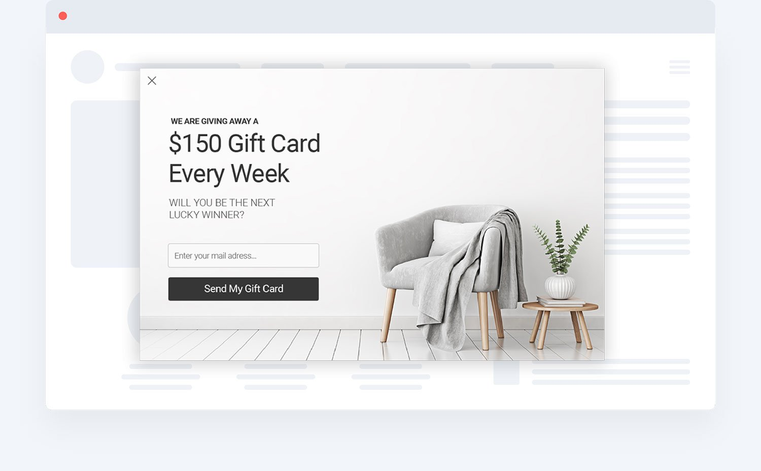 Gift Card Increase Sales conversion