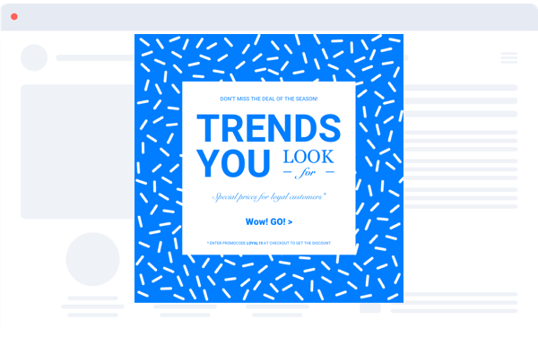 trends you look for blue white full screen popup design by popupsmart