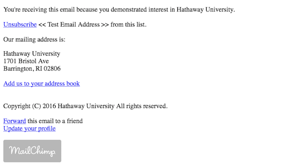 Mailing example to avoid Spam Filters.