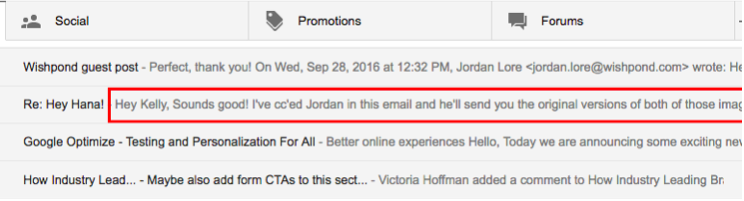 Great email subject line example to increase email open rates.