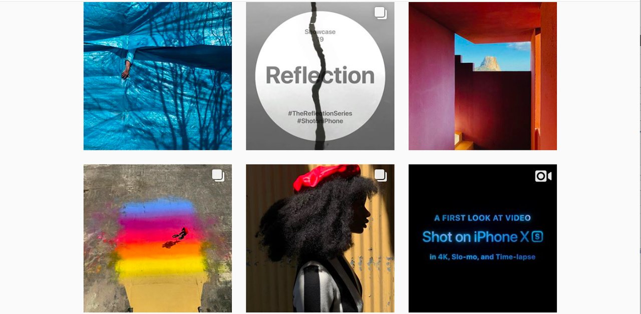 Example image of Apple Instagram account.