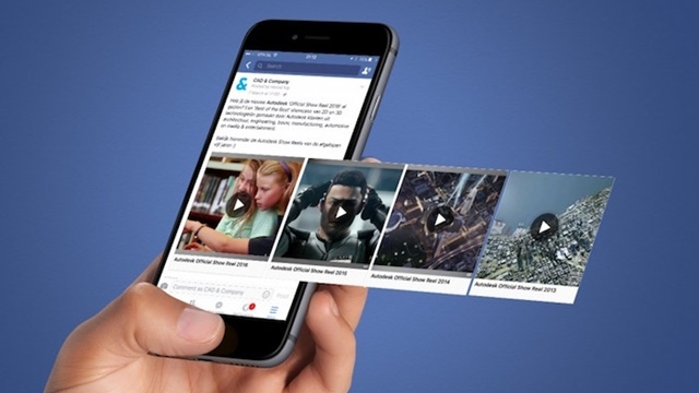 Illustration of Facebook and video content marketing.