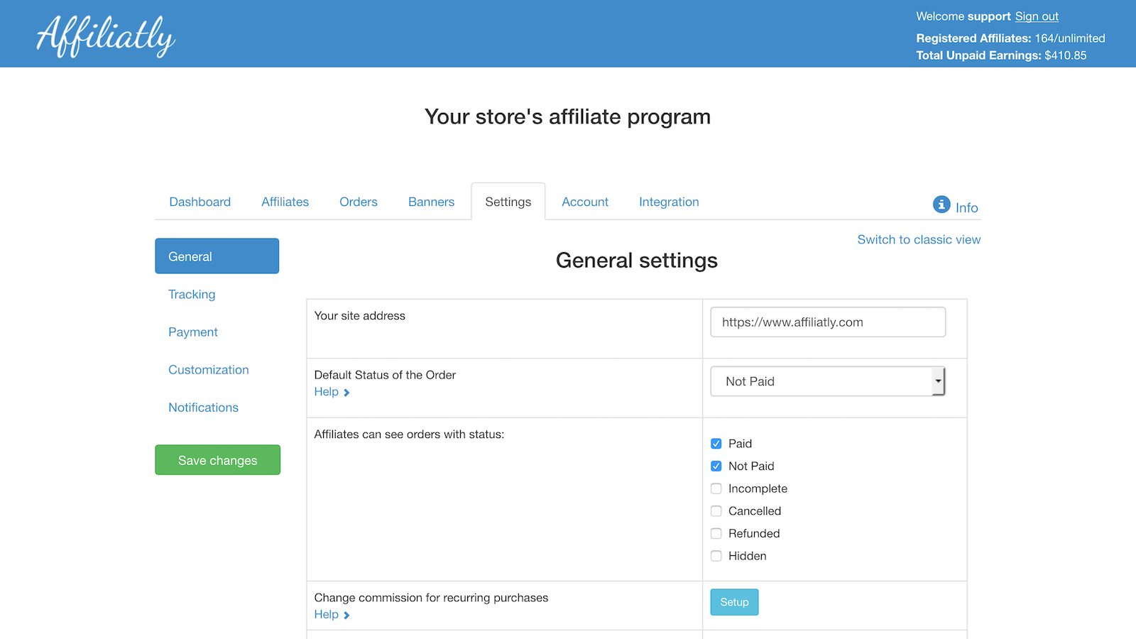 Affiatly best-rated Shopify paid app.