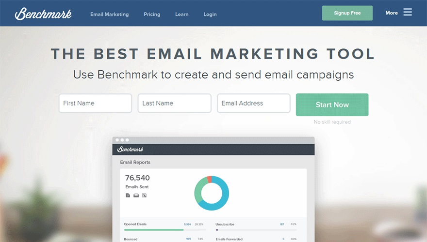 Benchmark email marketing automation tool to increase conversions.