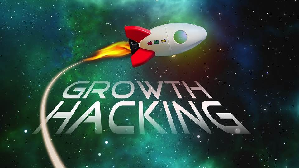 Illustration of growth hacking with skyrocketed results.