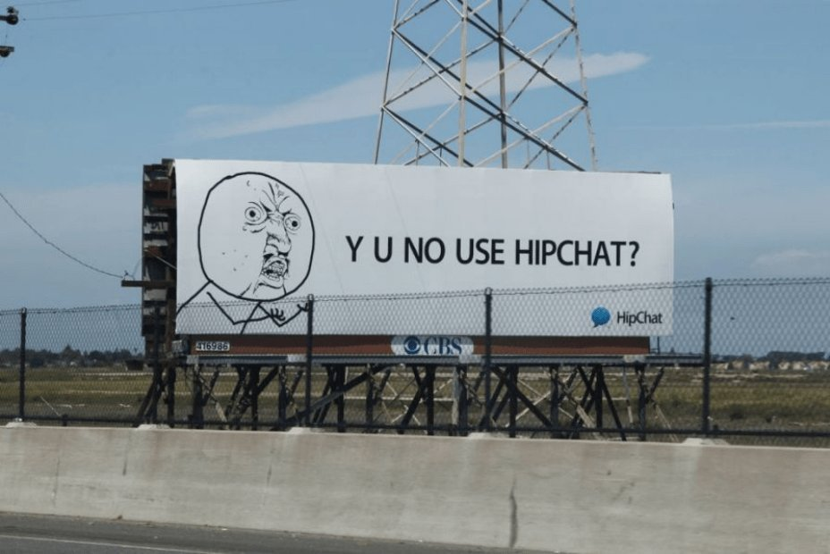 Example of the HipChat use billboard