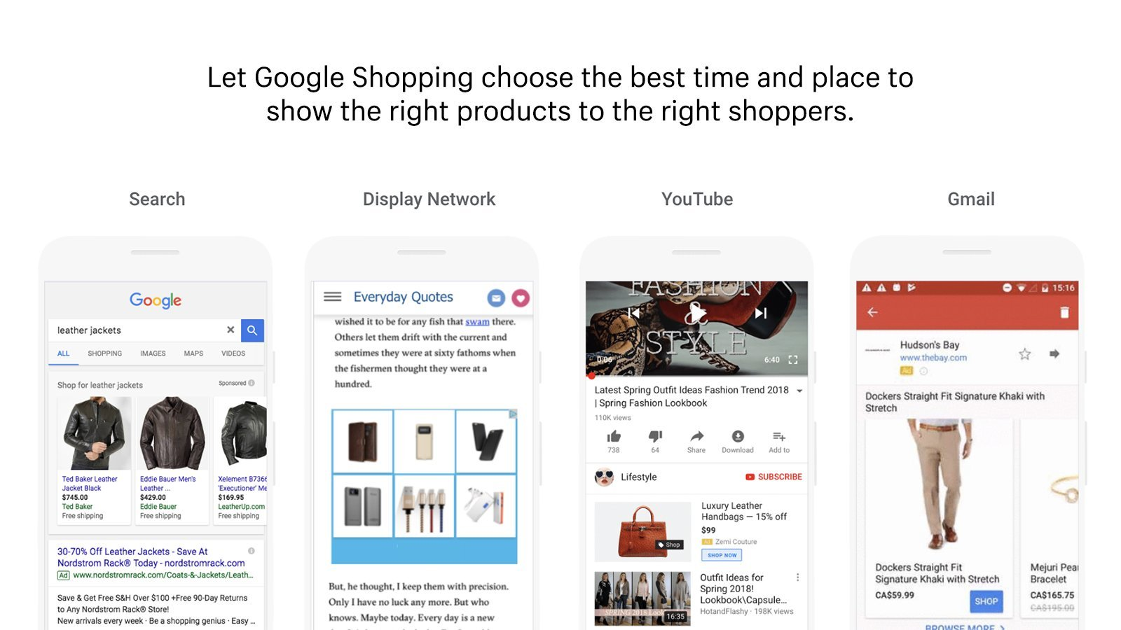 Google Shopping and Shopify integration example.