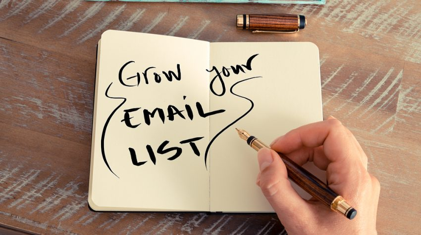 Grow your email list.