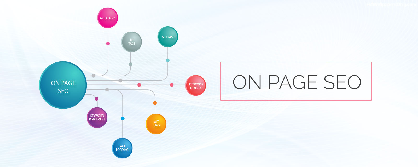 On-page SEO services illustration.
