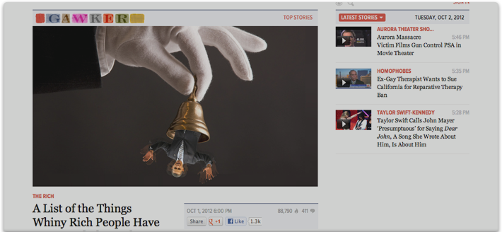 Gawker web site optimization.