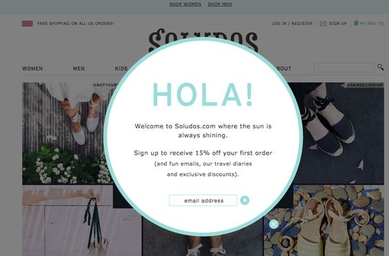Creative popup example to increase conversions.