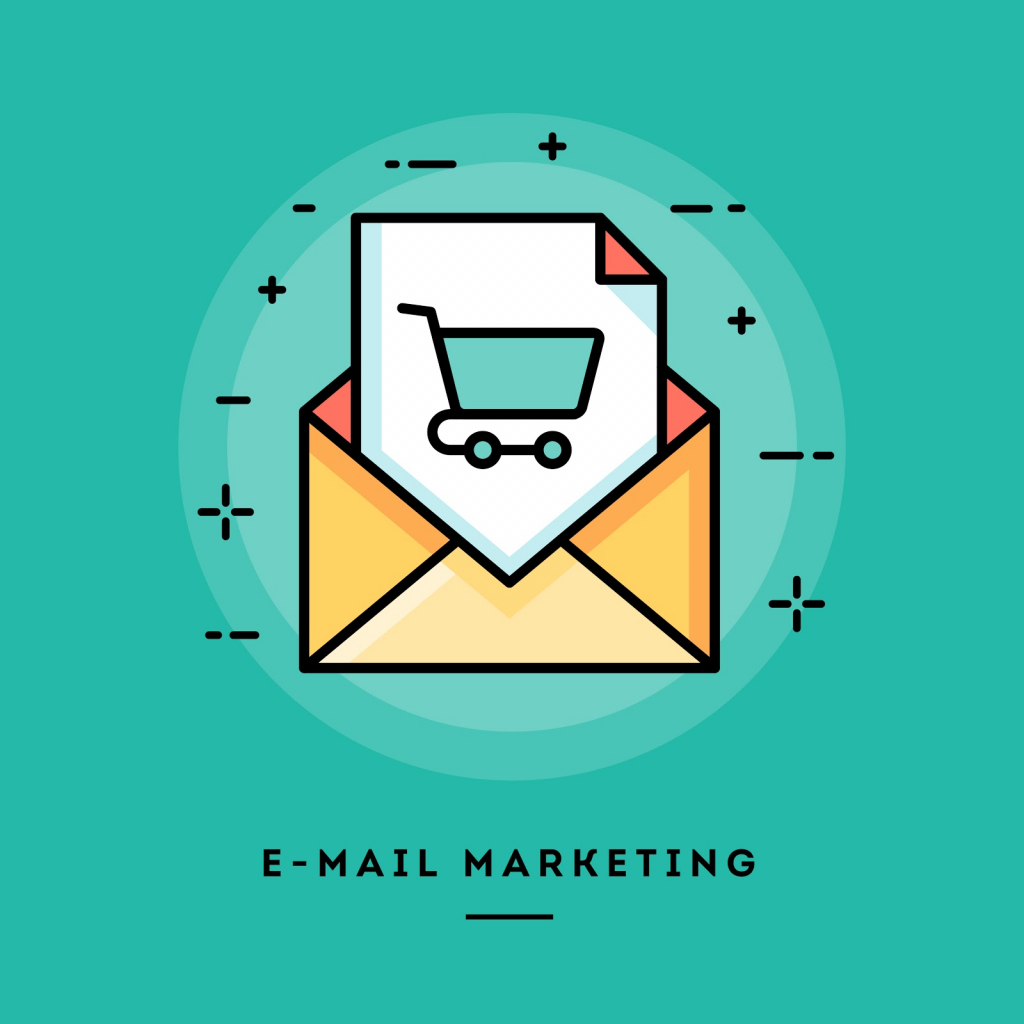 Online sales with email marketing.
