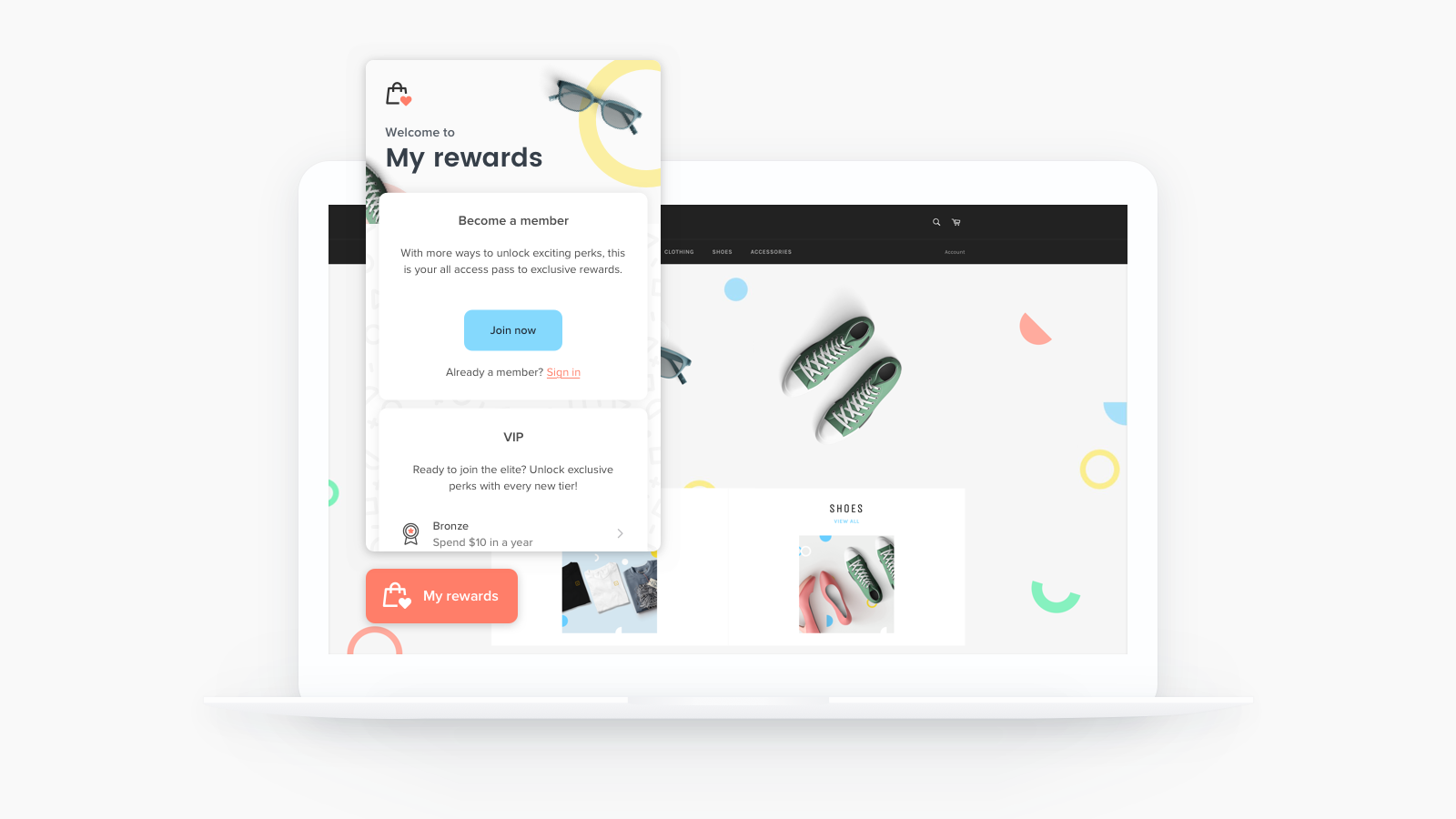 Become a member in Smile.io Shopify app.