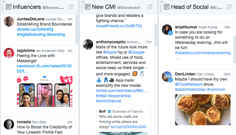 Example of smart influencer search tools.