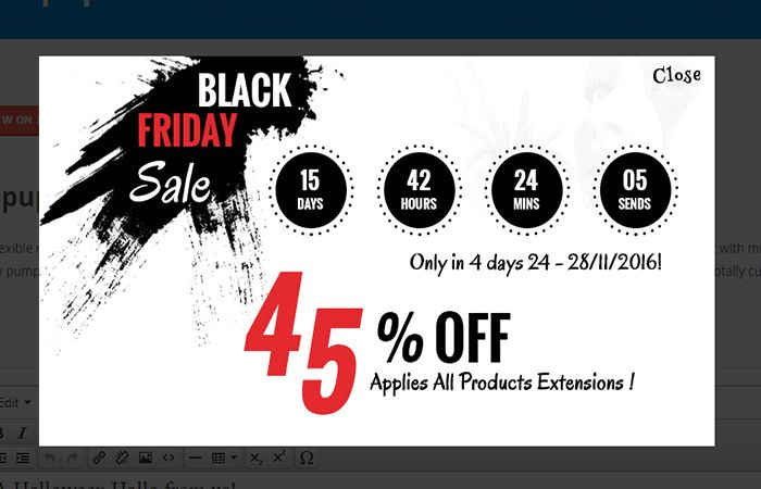 Black Friday countdown campaign to boost sales.
