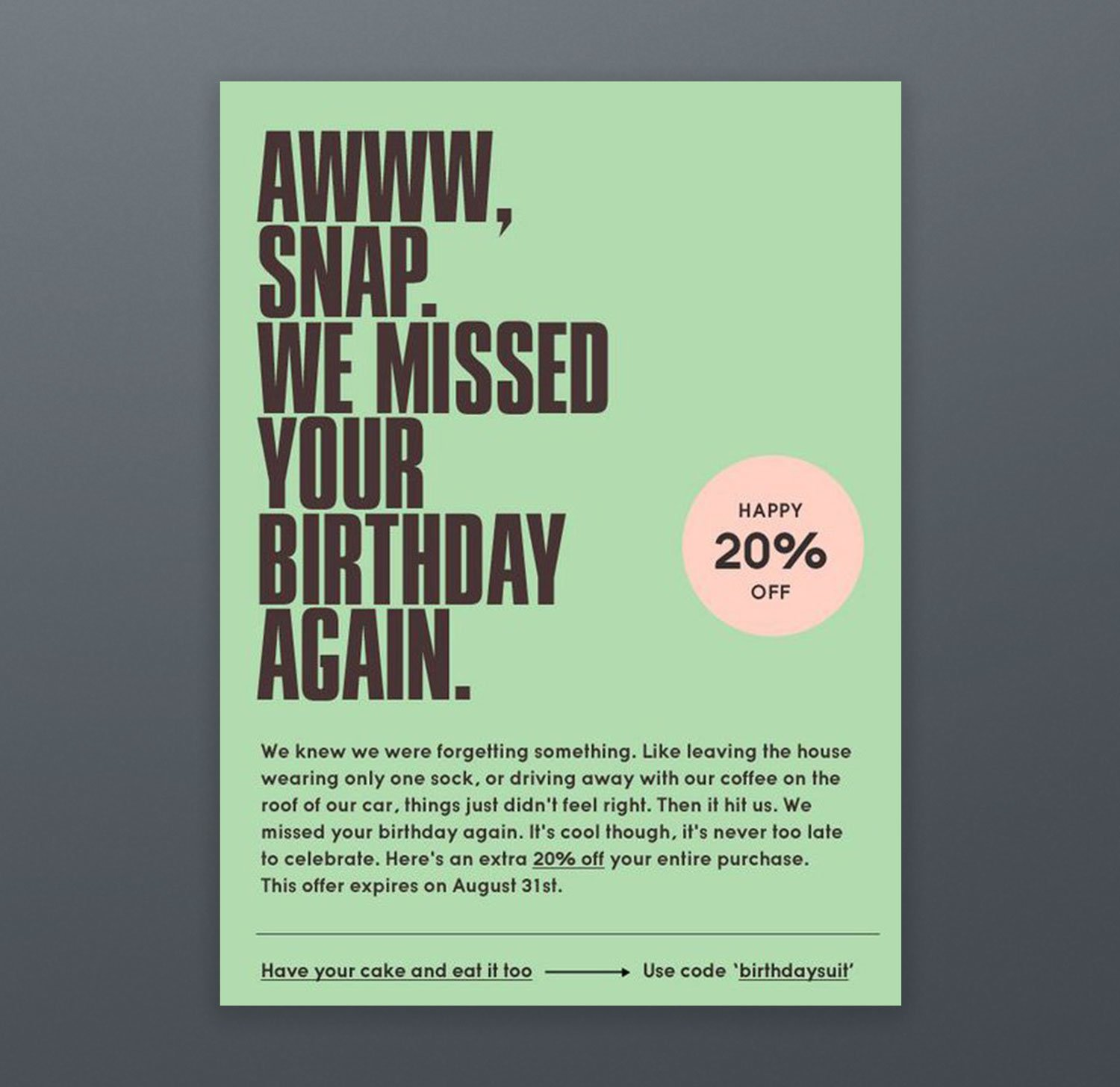 Need Supply Email Campaign Newsletter Birthday
