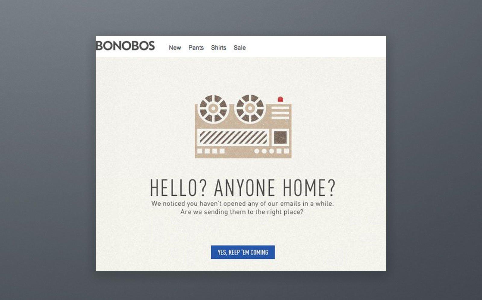 Bonobos Email Campaign