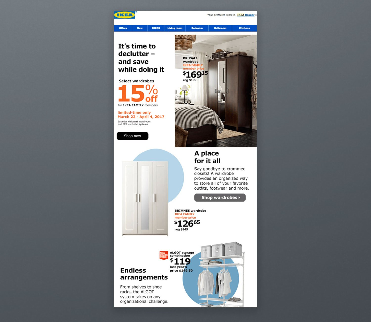 Ikea Newsletter Email