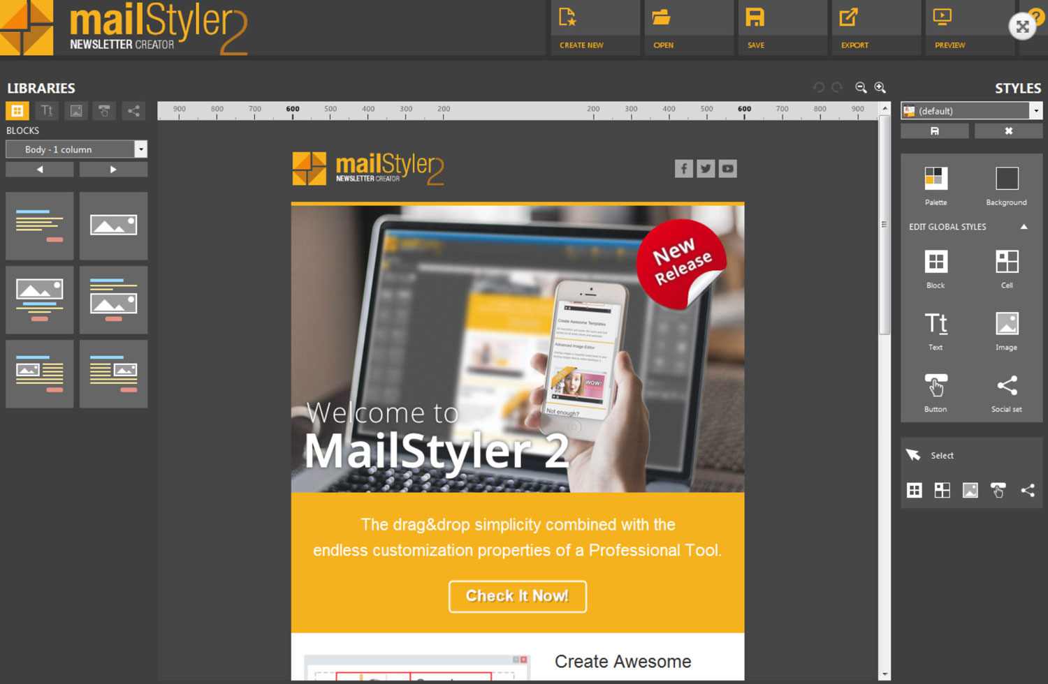 Newsletter Creator Email Template Builder