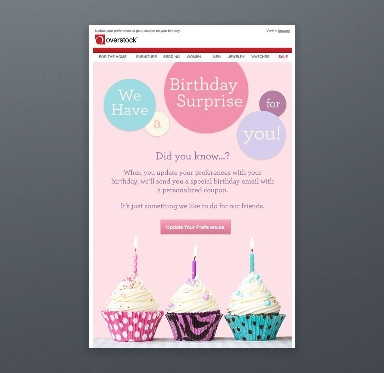 Overstock Newsletter Birthday Template