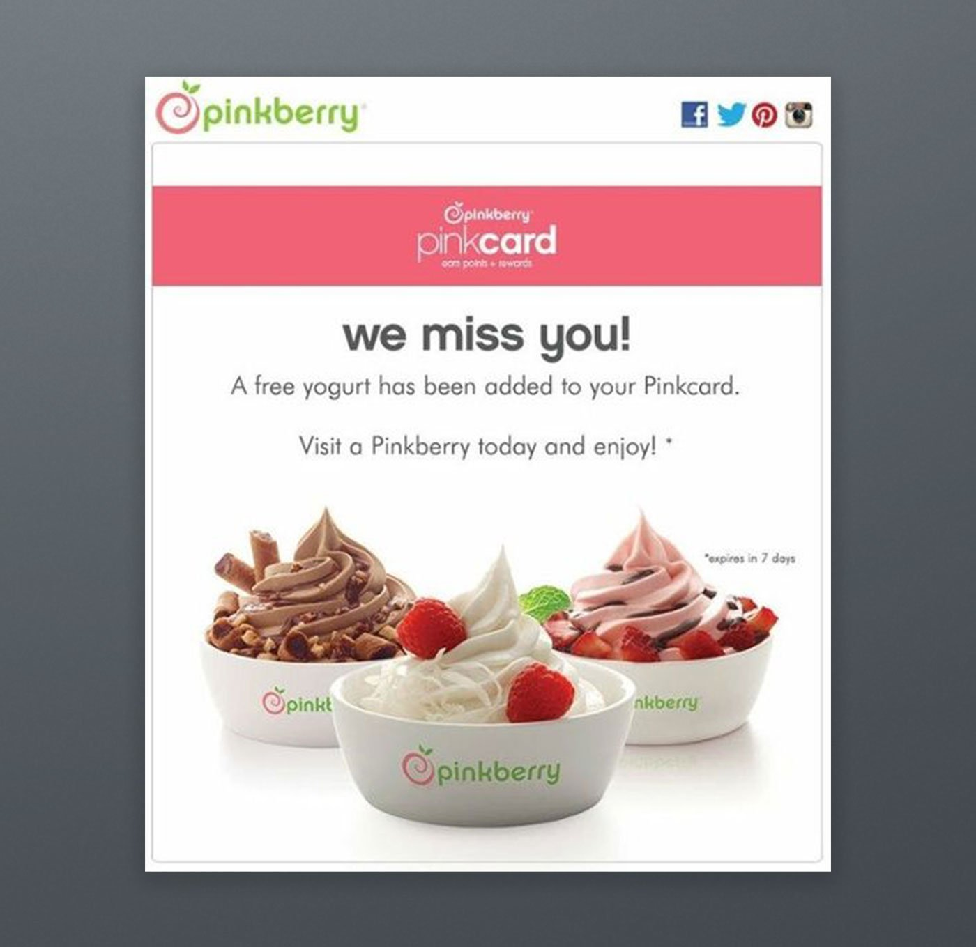 Pinkberry Campaign Email Newsletter