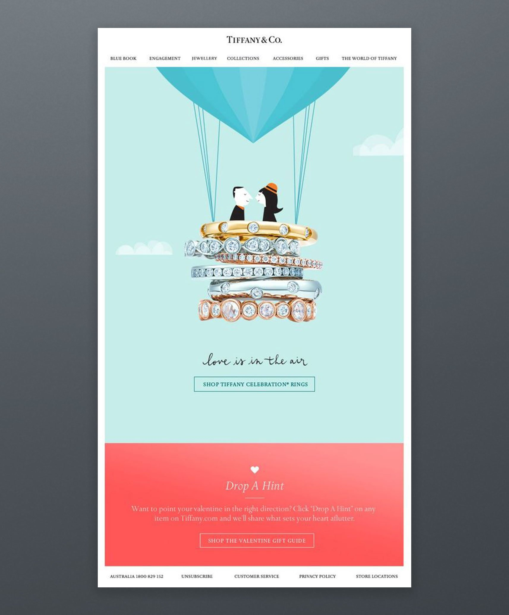 Tiffany Co Email Marketing Example
