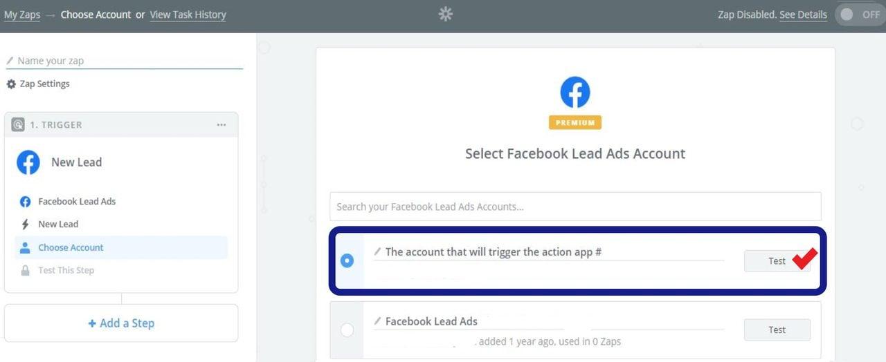 Choose a LinkedIn Lead Gen Forms options