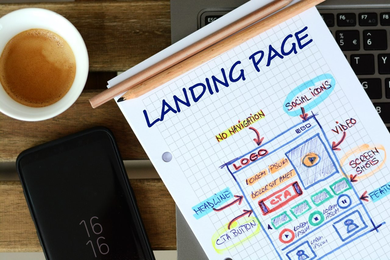 Landing Page Explained in Hand Writing