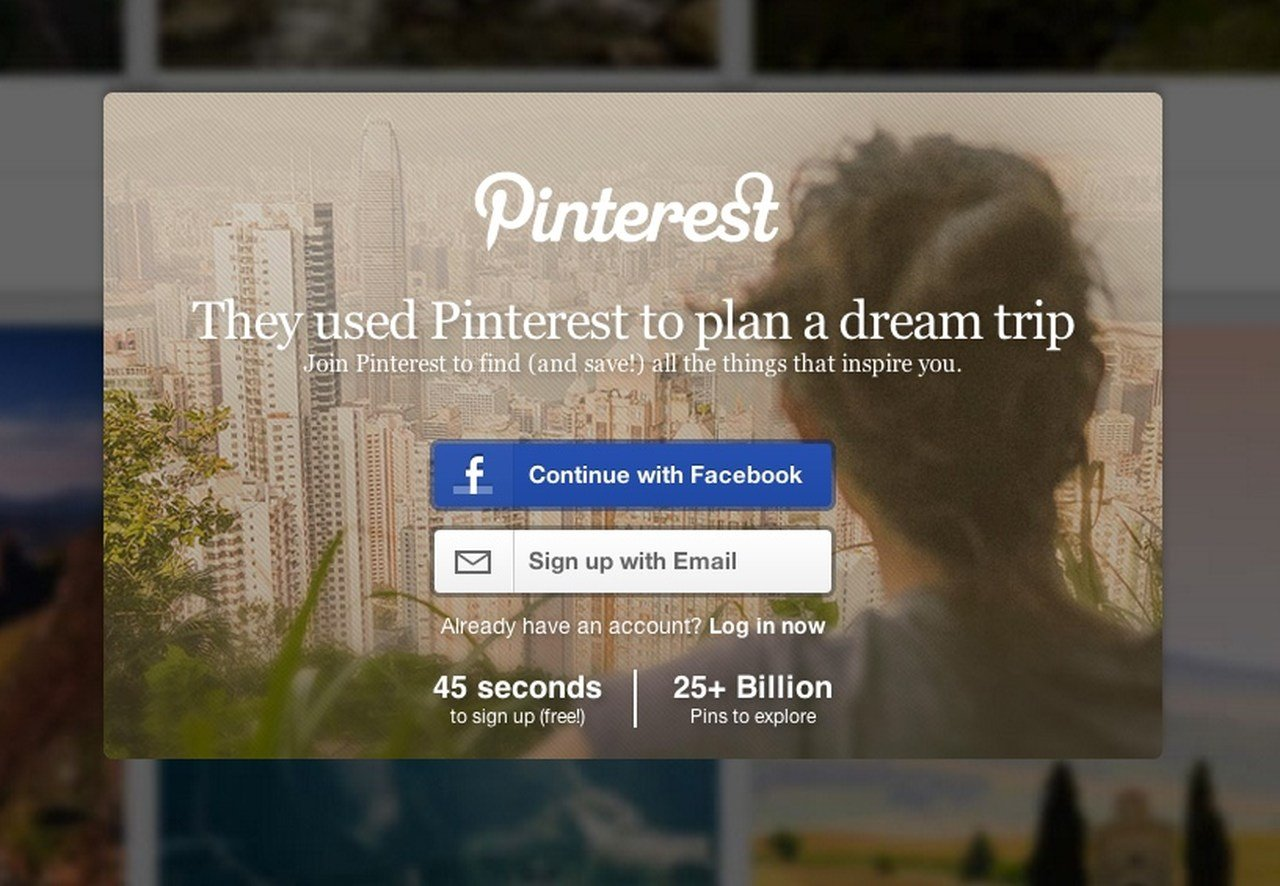 Create an effective headline by using a plain language example: Pinterest