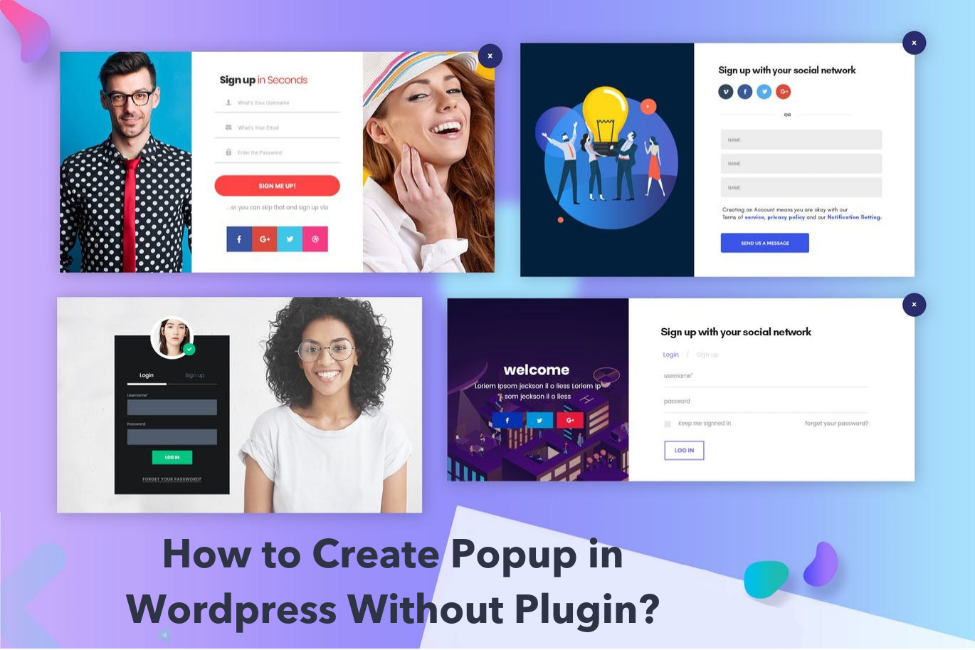 How to Create Popup in Wordpress Without Plugin? - Popupsmart