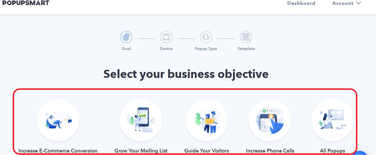 Select your business objective
